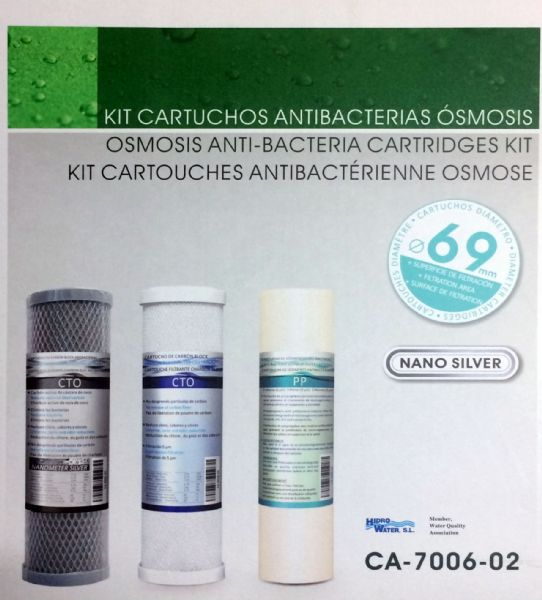 Kit Cartuchos Antibacterias 5 Etapas